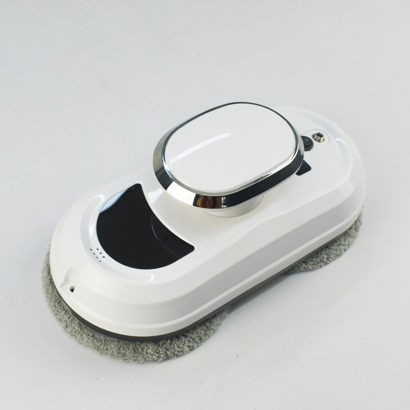 Frame detection robot window glass vacuum cleaner with remote control and glass cleaner bottle