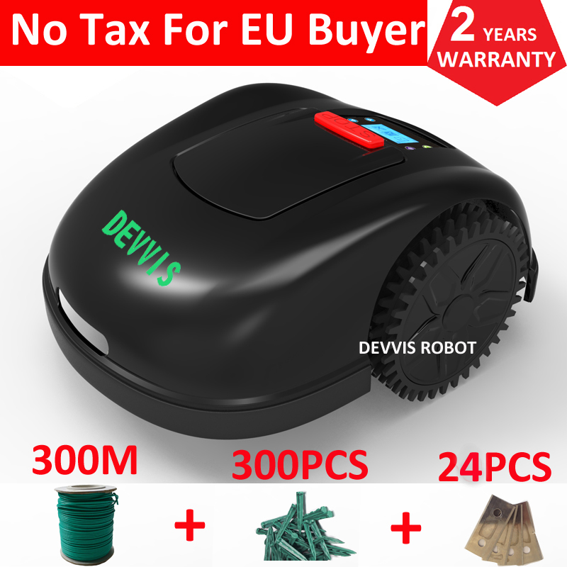 China Newest 5th Generation Grass Mower DEVVIS Robot Lawn Mower E1600T For Big Lawn with total 300m