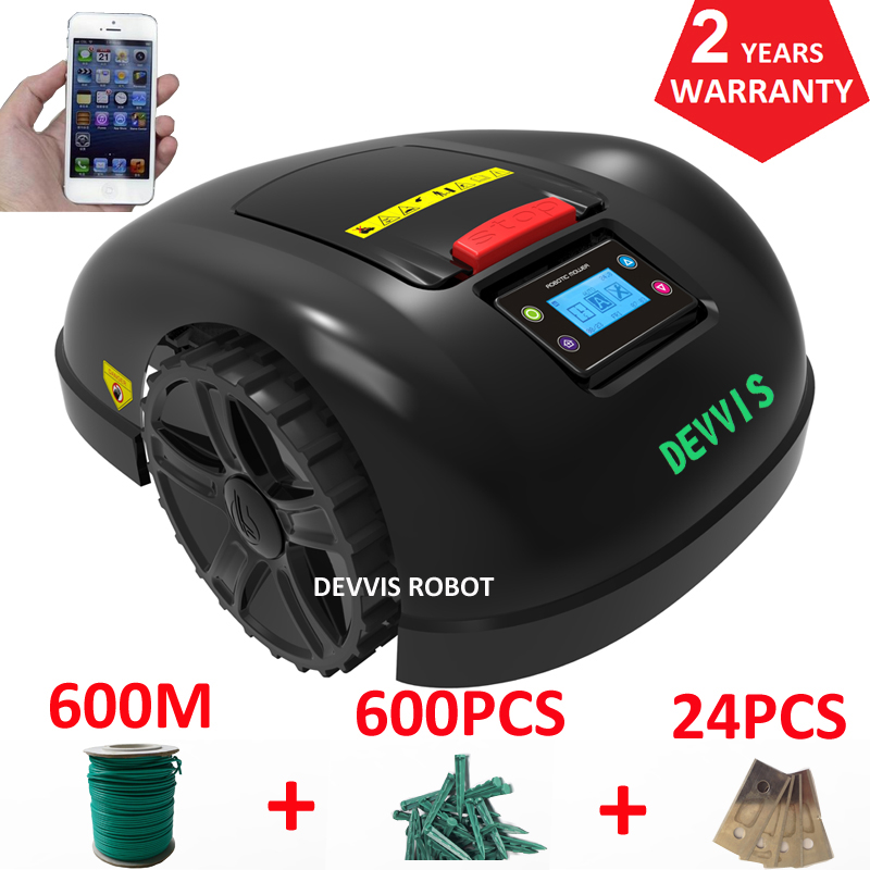 China DEVVIS Remote Control Automatic Lawn Mower E1600 ,working capacity 2600m2 with total 600m wire