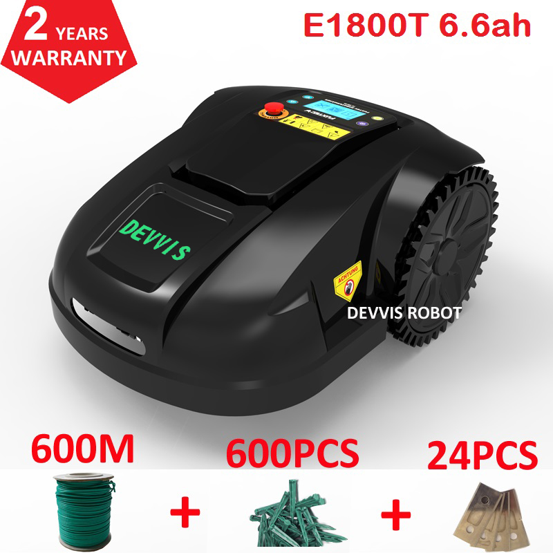 DEVVIS Robot Grass Trimmer E1800T For Middle Lawn Area up 1800m2 with CE&ROHS