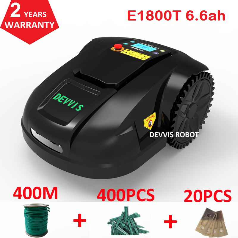 China DEVVIS Robot Grass Cutter E1800T Working Capacity 1800m2 ,Smartphone Wifi App Control